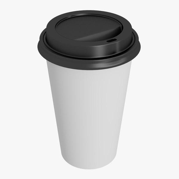coffee cup 16oz 3D model
