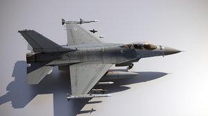3D precise f-16 model