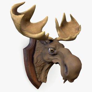 3D ready stylized moose head