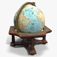 ready antique globe 3D model