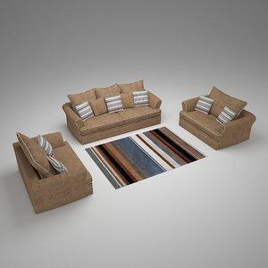 3D seated sofa carpet