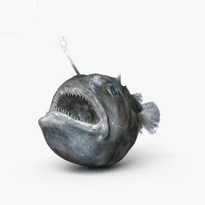 anglerfish fish 3D model