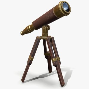 ready antique telescope model