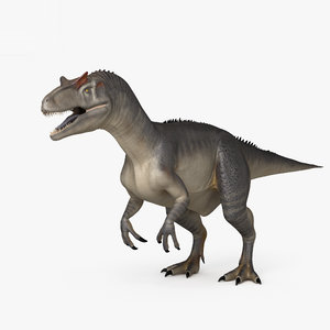 3D allosaurus dinosaurs animal