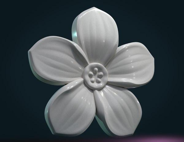print ready flower 3D model
