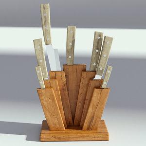 3D wood wooden