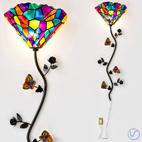 tiffany style stained glass model