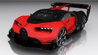 3D model bugatti turismo vision