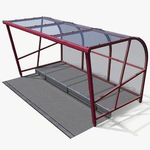 stadium reserve shelter 3D model