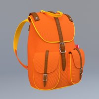 Stylized School Bag