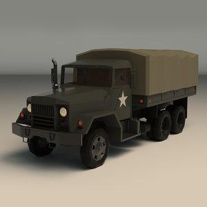 military truck ar 3D model