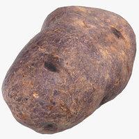 3D purple potato ready 03 model