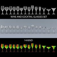 wine glasses set model