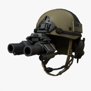 helmet military helm 3D model