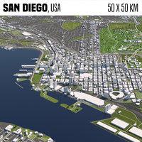 San Diego 50x50km