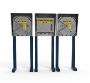 3D electric panel model