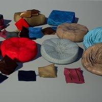 3D model pillows puff