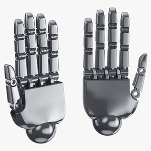 robot hands 01 open model