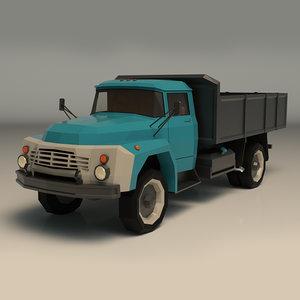 3D truck vintage model