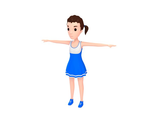 3D girl character cartoon
