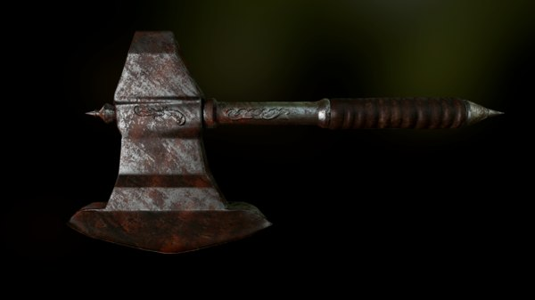 battle axe 3D