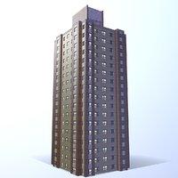 3D multi-story building model