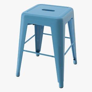 3D metal stool model