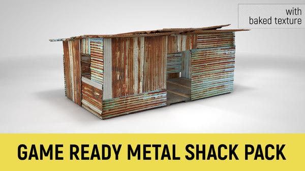 metal shack 3D model