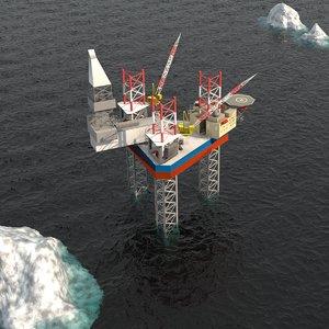 maersk drilling rig 3D model