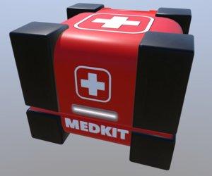 3D medkit box crate