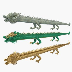 3D chinese straight dragon 1