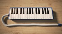 3D melodica keyboard model