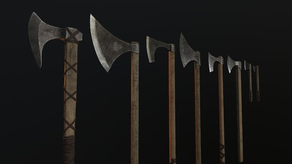 3D model viking axes