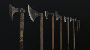 3D model viking axes