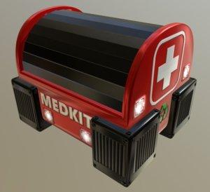 3D medkit box crate model