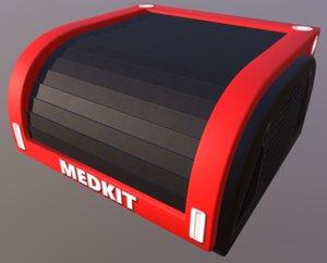3D model medkit box crate