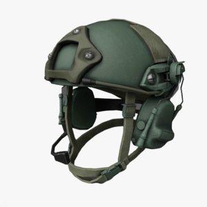 3D sci-fi helmet