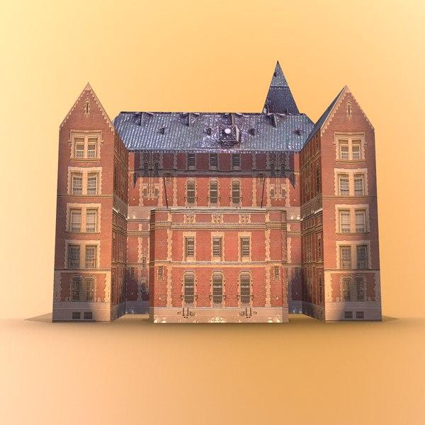 3D old brick model