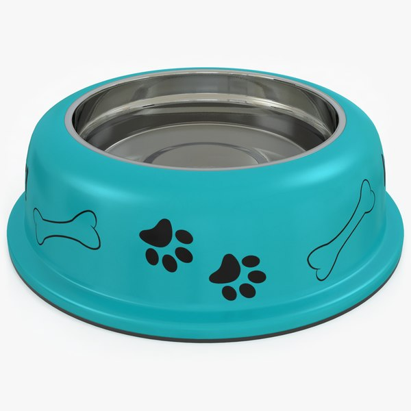3D dog bowl water