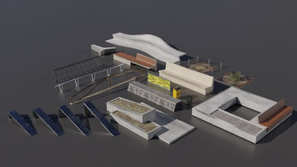3D pack painted ledges model