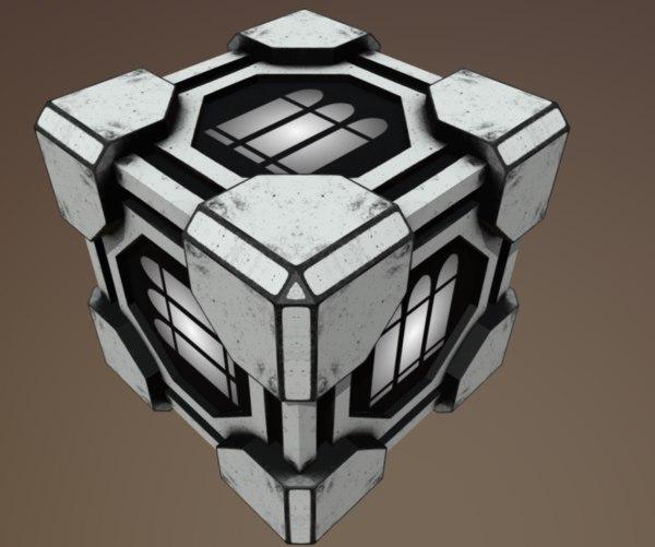3D hitech scifi ammobox 2 model