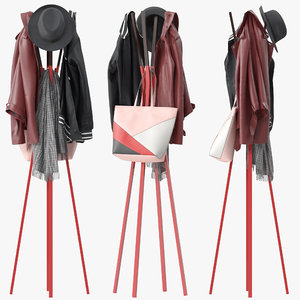 splash coat rack 3D model