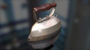 vintage clothes iron 3D model