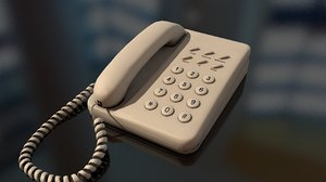 3D corded retrotelephone