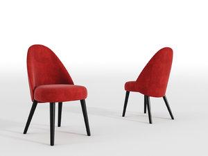 chair render colors 3D model