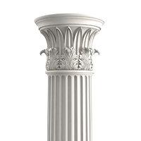temple winds column 3D model