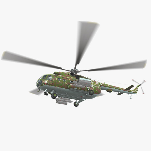 mi-17 slovak air force 3D model