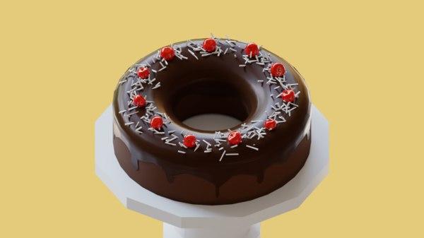 3D chocolate cake model