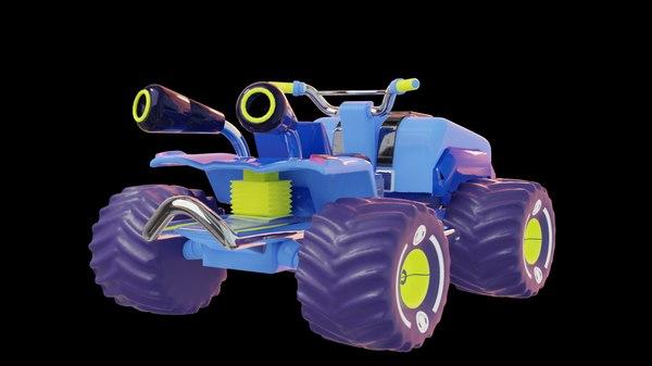 blue kart 3D model