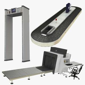 airport equipment 3D